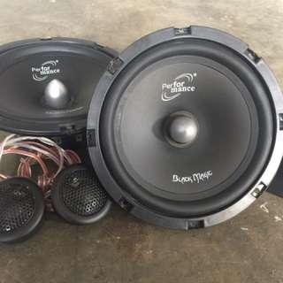 Car 12 Volts ( 6.5 ,2-Way Component Speaker )