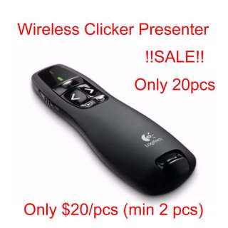 Clicker Wireless Presenter Pointer laser PowerPoint Presentation Logitech
