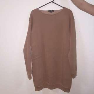 Nude Oversized Sweater Dress (Missguided)