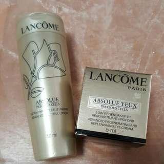 Lancome Absolute Preciouscells Advanced Lotion 60ml & Eye Cream 5ml