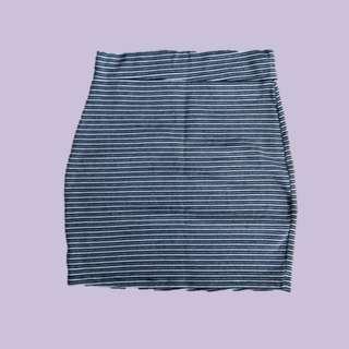 Stripes Pencil Skirt