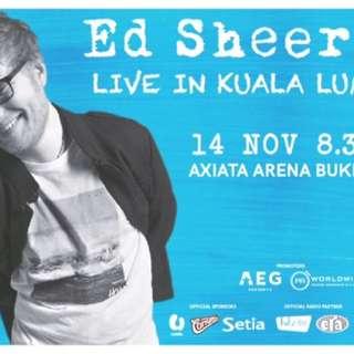 Ed Sheeran KL Concert Tickets