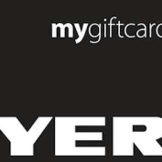 $50 Myer Gift Card