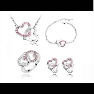 Intertwined Love Jewellery 4 Pieces Set