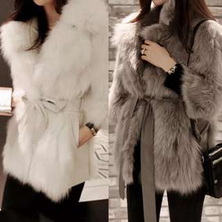 Winter Faux Fur Coat Jacket Overcoat