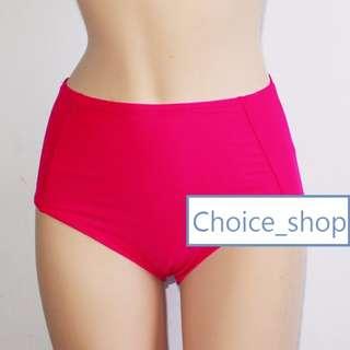 設計款素色三角四角高腰泳褲