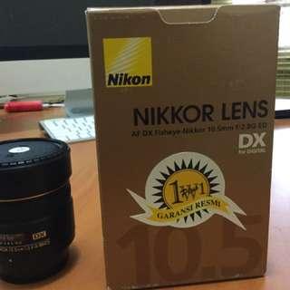 Lensa Nikon Fish Eye 10,5mm
