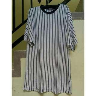 Montanan Striped Short Dress