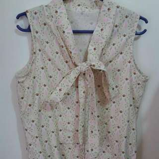 Repriced!!! Tailored Ribboned Blouse