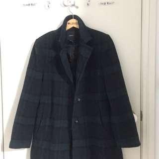Winter Plaid Coat Size M