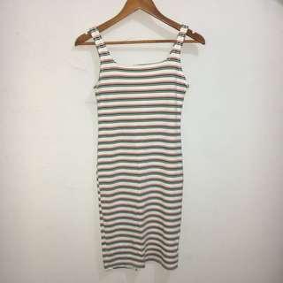 BERSHKA Stripped Dress