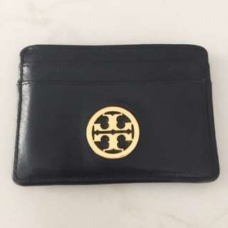 Tory Burch Card Holder Wallet Case Black Authentic