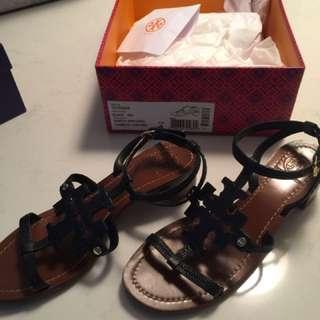Tory Burch Black Sandals 8
