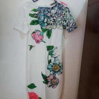 Repriced!!! White Floral Dress