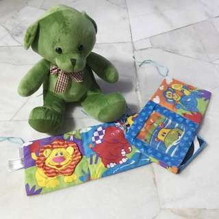 PRE❤️ BEAR FLUSH TOY AND LAMAZE DISCOVERING CRIB TOY