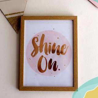 """""""Shine On"""" Picture Frame"""