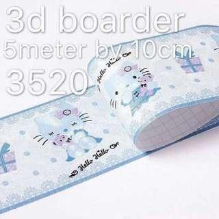 3d boarder sticker