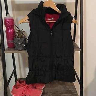 Black Puffer Vest- Size 8