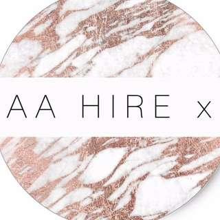 A A HIRE x