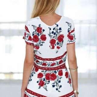 U.S Style 3D Floral Print Terno Set 🌺
