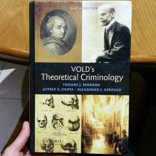 VOLD's Theoretical Criminology 6th Ed