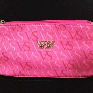 Victoria's Secret VS WORD Key Zipper Cosmetic Pouch - Pink