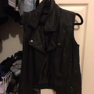 Faux Leather Vest