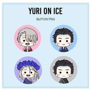 Yuri On Ice Button Pins