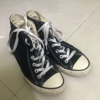 converse高筒帆布鞋