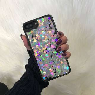Silver Hearts IPhone 7 Plus Phone Cover