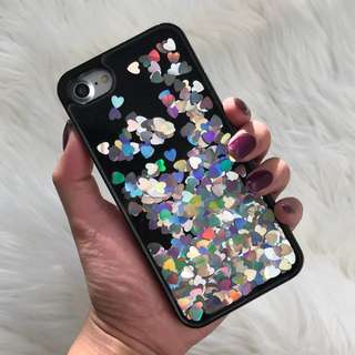 Silver Hearts Iphone 7 Phone Cover