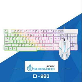 Gaming Keyboard and Mouse Rainbow Back Light