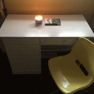 Handcrafted White Wooden Desk