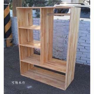 【可陽木作】原木五格衣櫃 衣櫃 衣櫥 / 展示架 展示櫃 / 置物架 置物櫃 / 收納架 收納櫃 /書架 書櫃