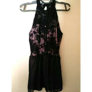 Nude Brocade Dress