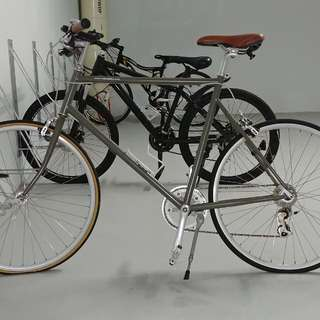 Olive Green Tokyobike With Brown Leather Broque Seat FREE Bell Car Rack For 3 Bikes