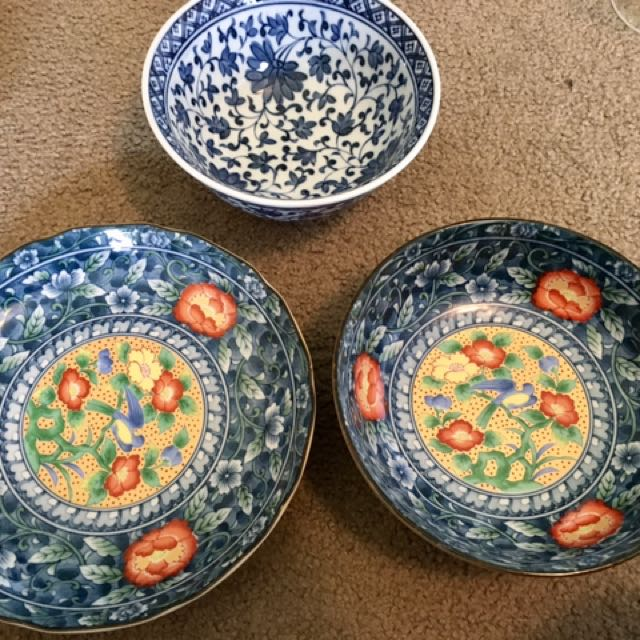 3 X Chinese Bowls