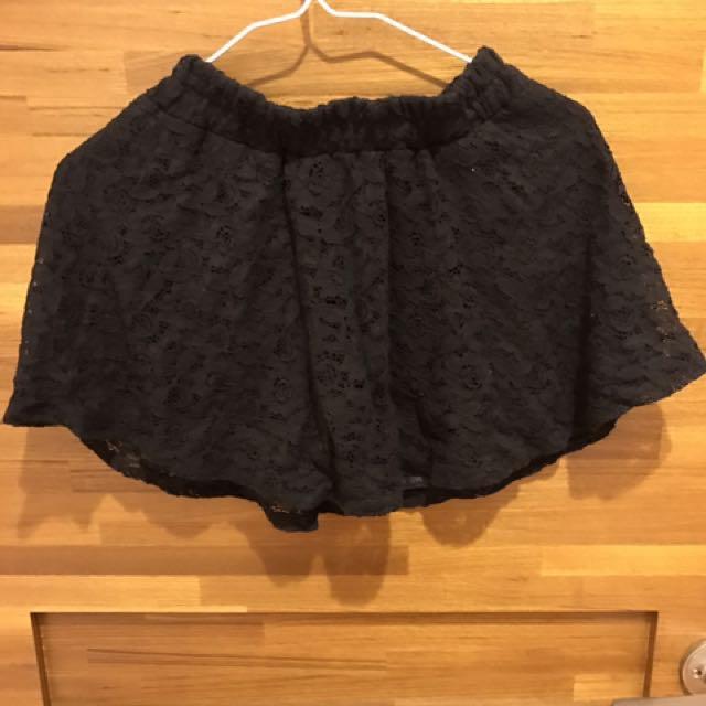 黑色內搭褲裙
