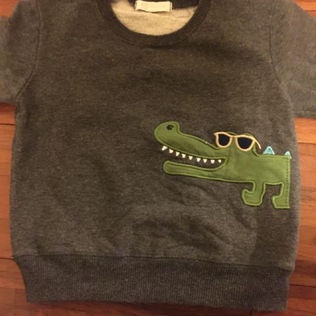 美國恐龍內刷毛上衣