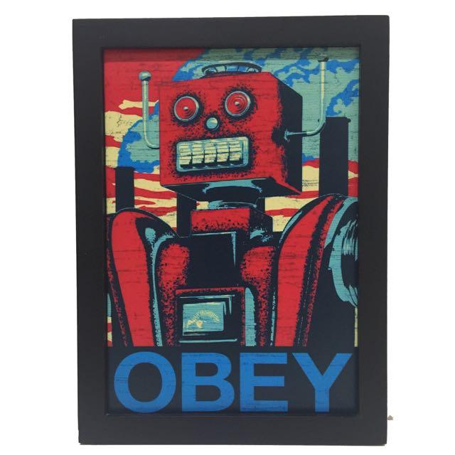 🤖️機器人來咯~實木掛畫 壁飾
