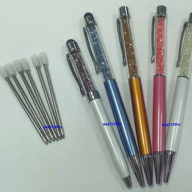 """施華洛世奇 水晶筆 專用替換""""藍色筆芯""""適用swarovski出廠的水晶筆"""