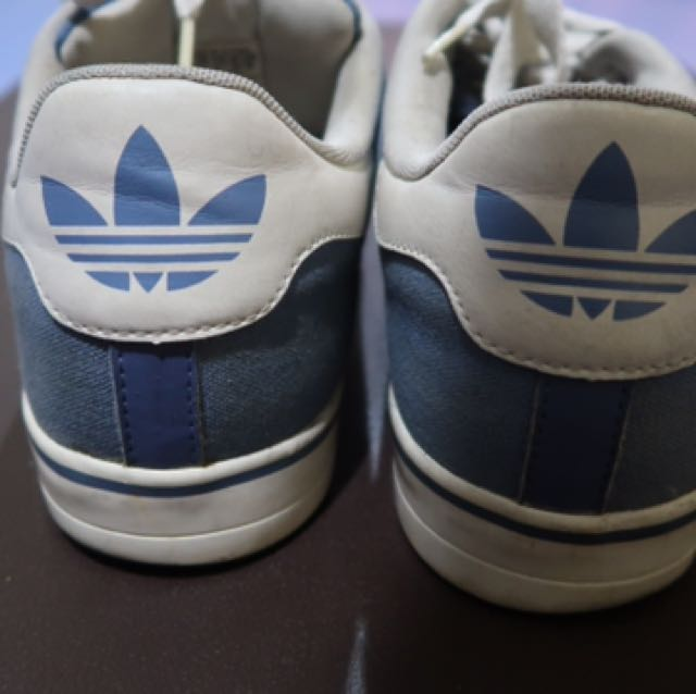 Adidas Men's Classic Light Blue Canvas Sneakers