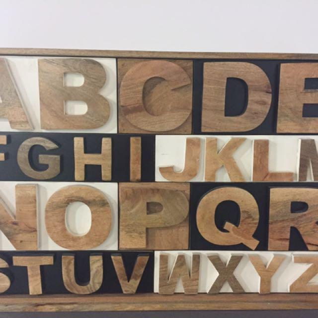 Alphabet Chest Of Drawers Mango Wood.