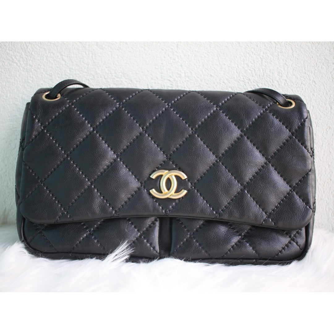 Authentic Chanel Accordian Bag
