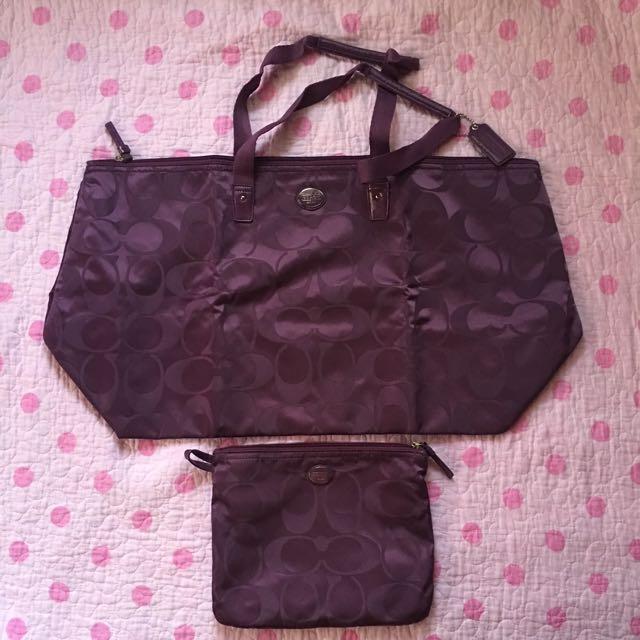 👜Authentic COACH Travel Bag (PURPLE) 👜