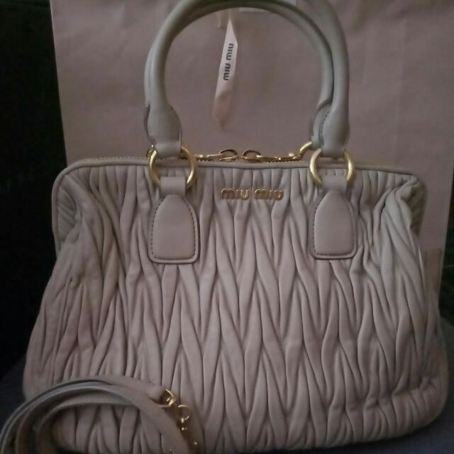 Reprice Authentic Miu Miu Matelasse Ladies Handbag
