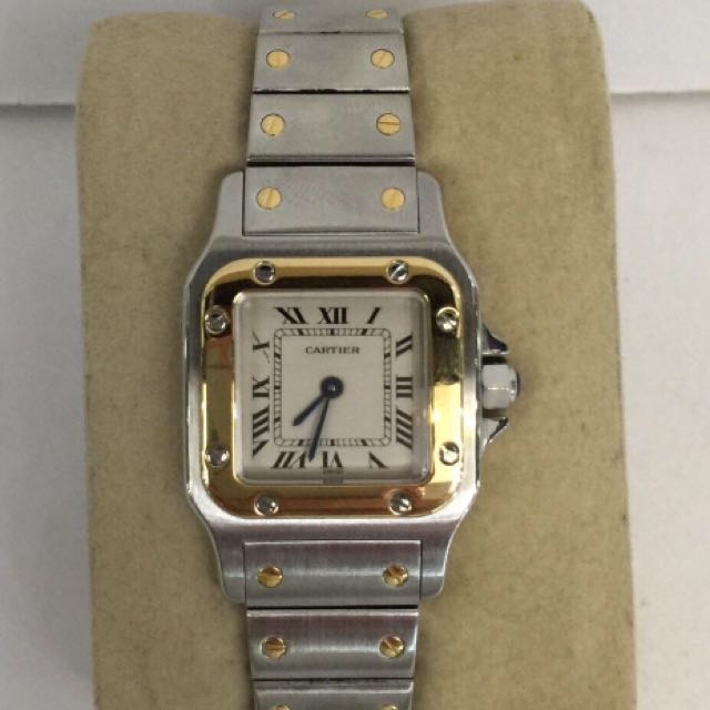 AUTHENTIC PRE OWNED CARTIER SANTOS 2 TONE