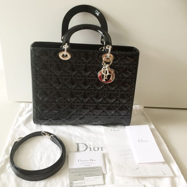 3c90facc75 Authentic Preloved Christian Dior Lady Dior Bag (Large), Luxury ...