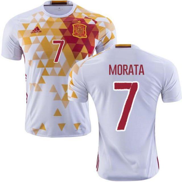 brand new 03d9b 000dd Authentic Spain Away Jersey ( Morata Nameset)