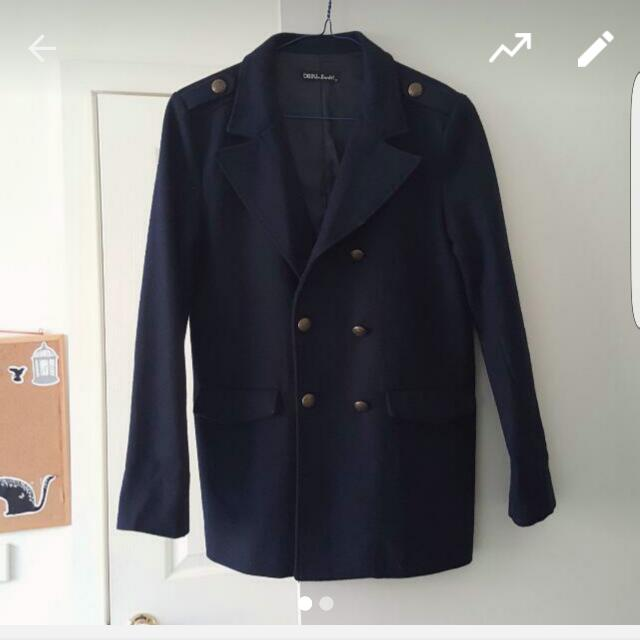 Bardot Navy Coat